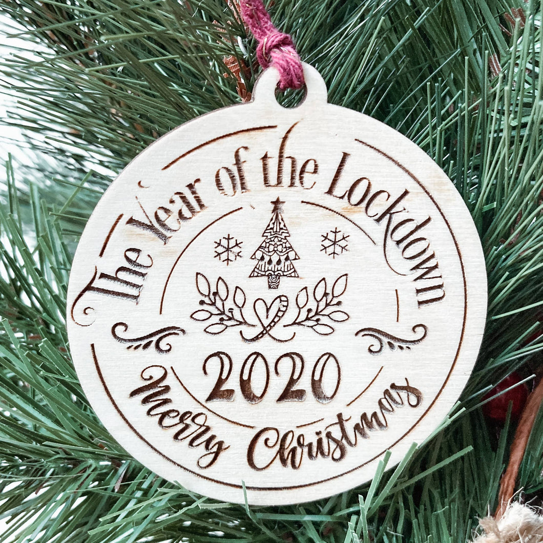 2020 Christmas Ornament, The Year of Lockdown Christmas
