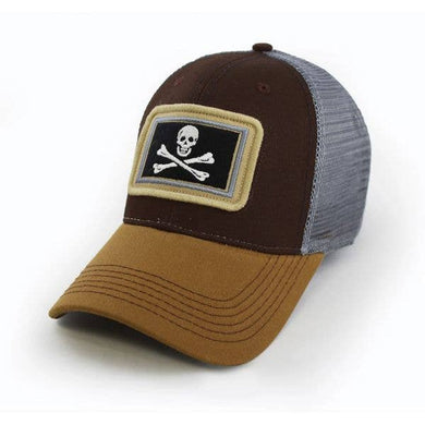 Calico Jack's Jolly Roger Flag Structured Trucker Hat