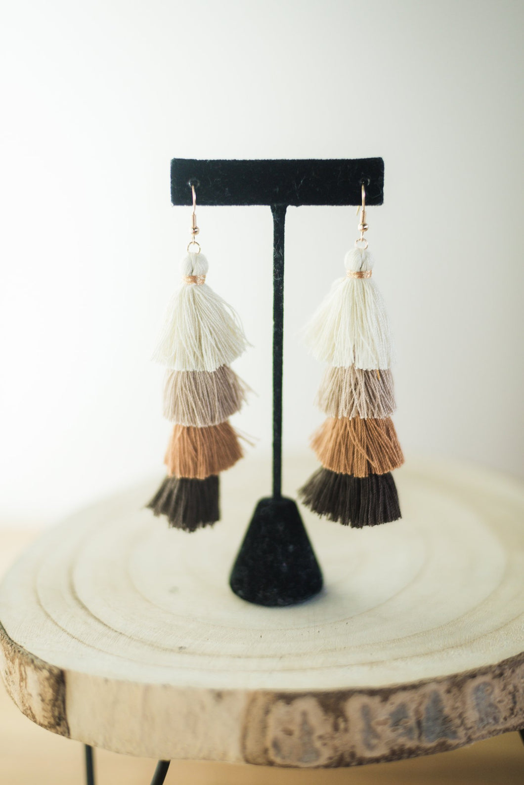 The Tiara Tassel Earrings