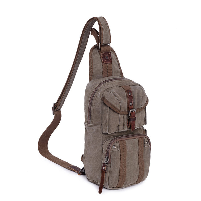 Sunset Cove Canvas Sling Bag