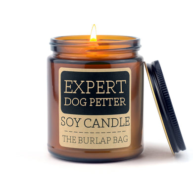 expert dog petter 9oz soy candle