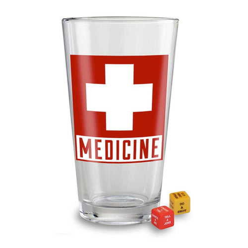 Party in a Pint Glass - Medicine - Drinking Game with Dice