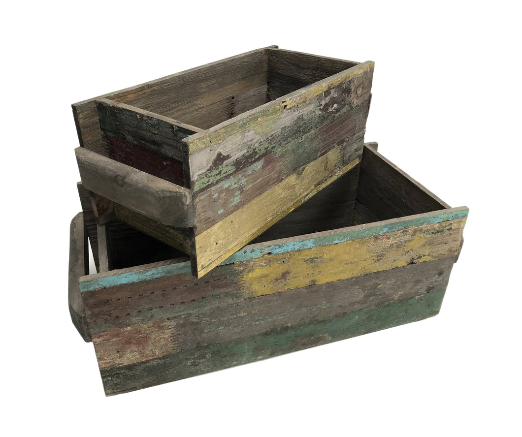 Large Reclaimed Wood Rectangle Planter