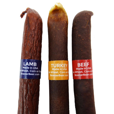 Bowser Doggie Sausage Cigar (Turkey, Beef, or Lamb)