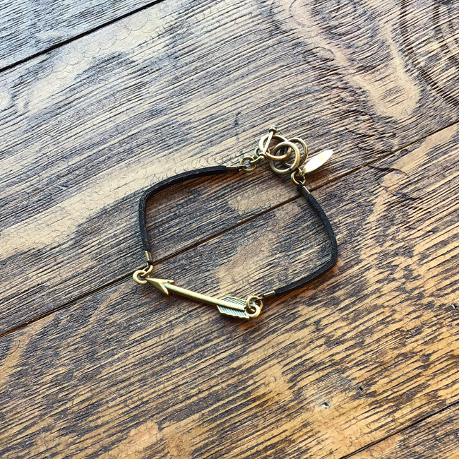 Arrow Suede Bracelet