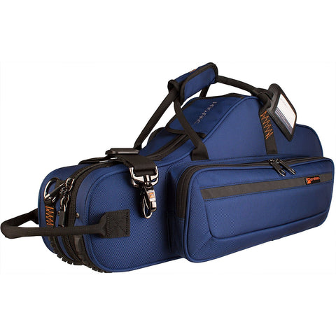 Alto Saxophone Contoured PRO PAC Case with Flute Pocket - Blue