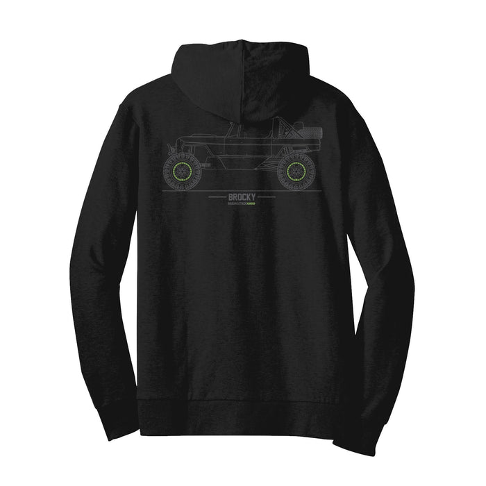 Fun-Haver Brocky Tech Drawing Zip Hoodie