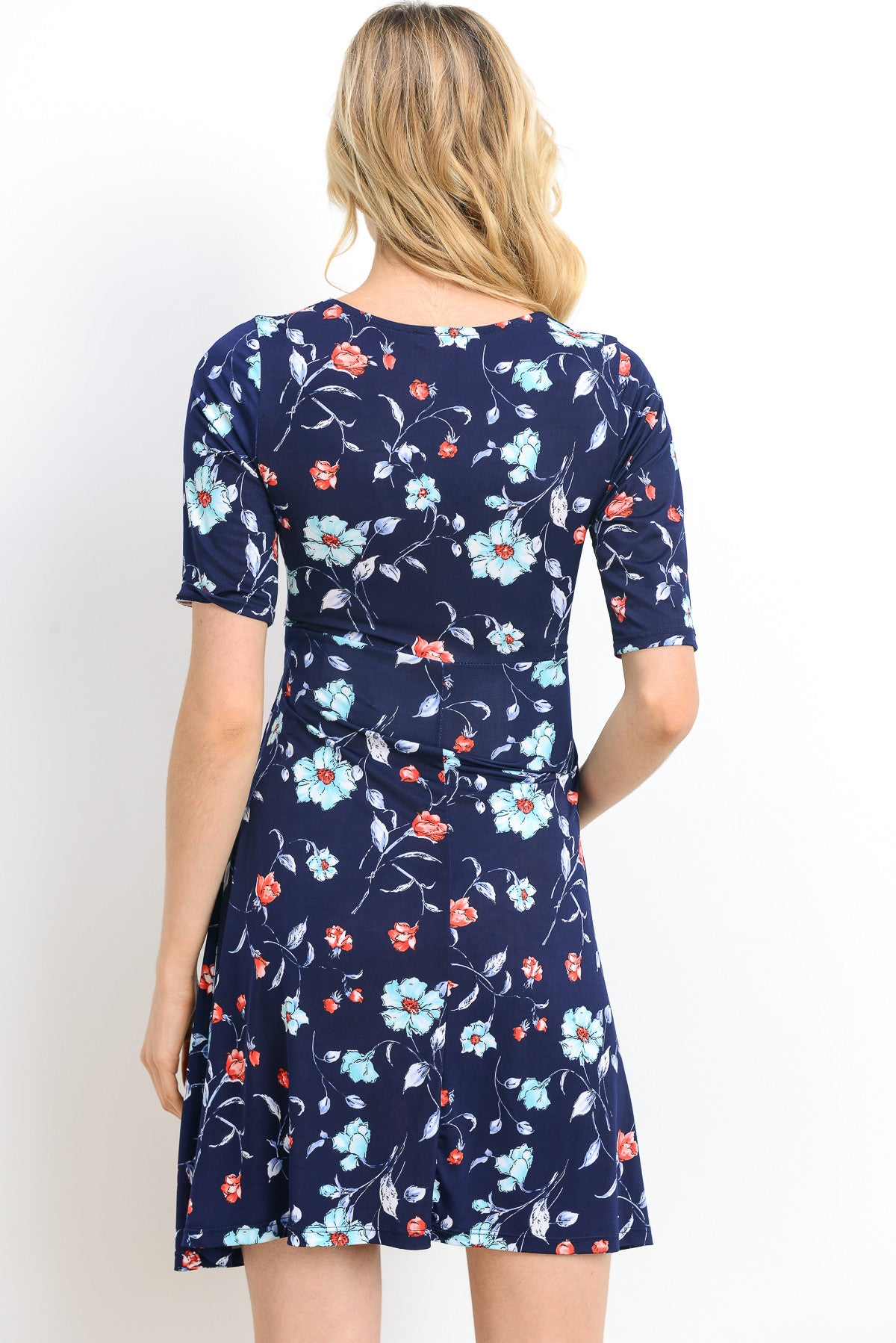 Floral Side-Tie Maternity Wrap Dress