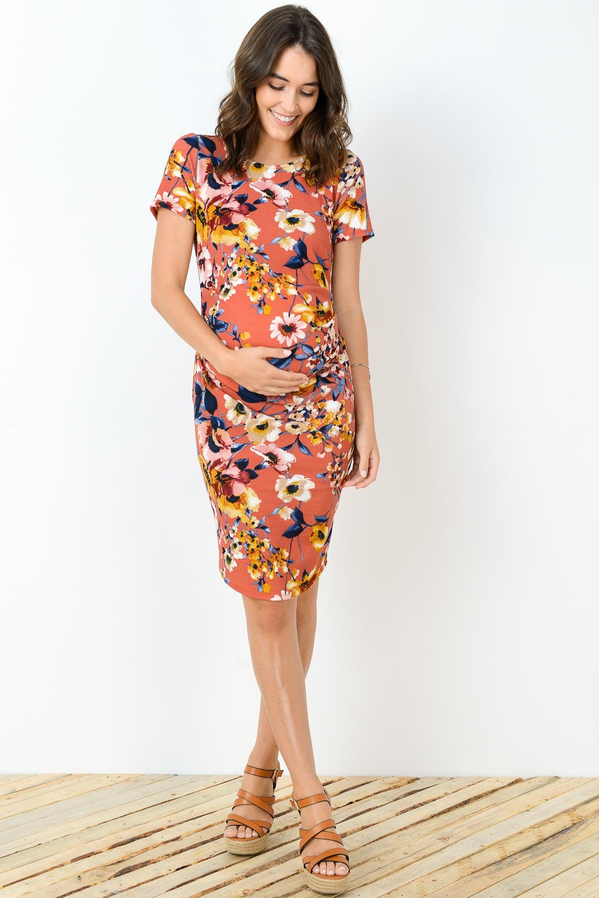 Floral Maternity Sheath Dress