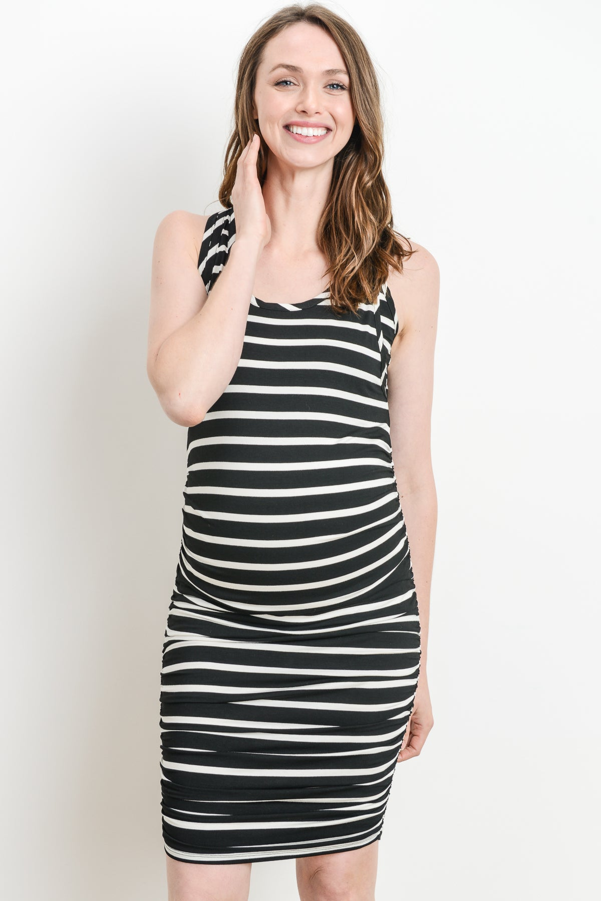 Stripe Maternity/Nursing Dress by Hello Miz