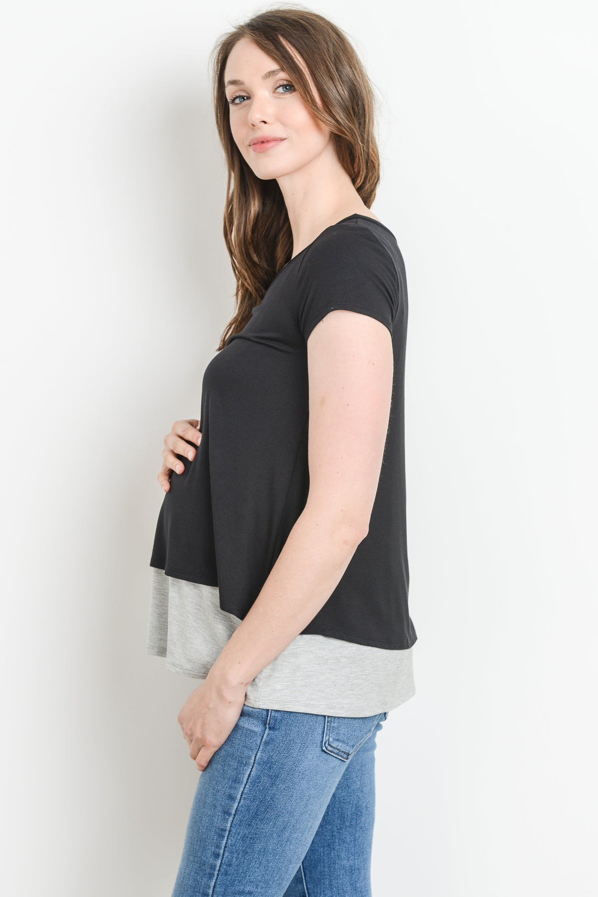 Double Layer Maternity/Nursing Top