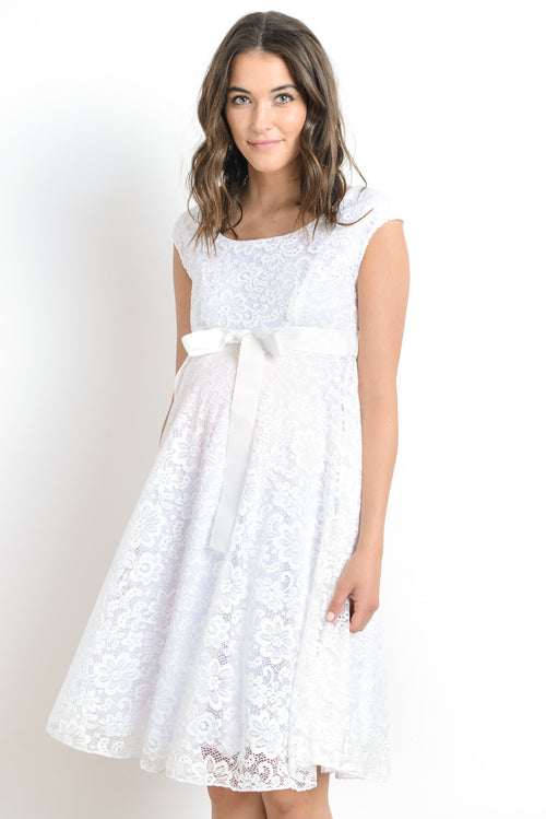 Floral Lace Maternity Baby Shower Dress