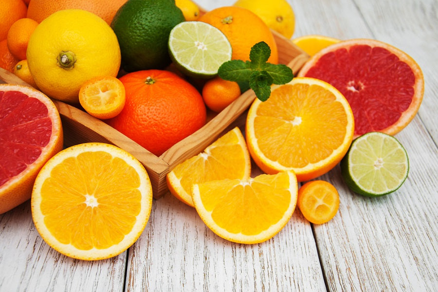 Fresh Healthy Citrus Fruit Slices