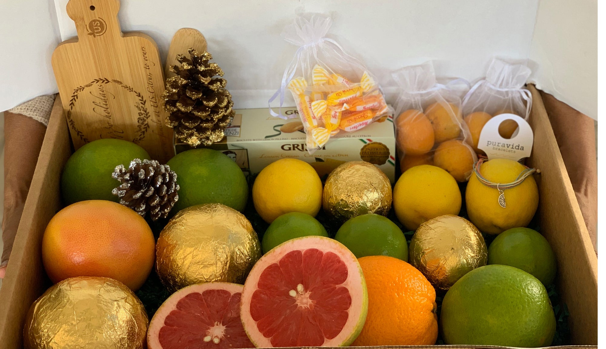 Ideas for DIY Homemade Citrus Fruit Gift Baskets