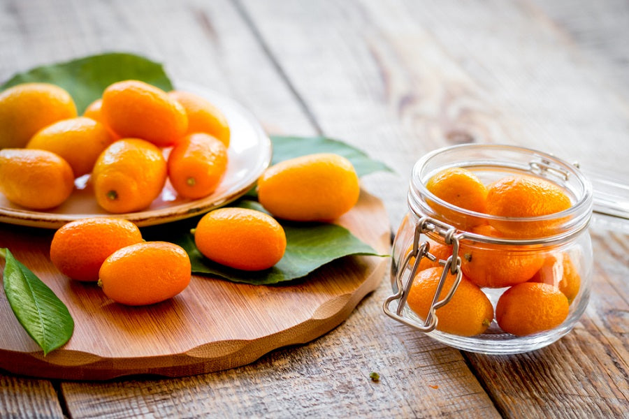 Kumquats on a Table