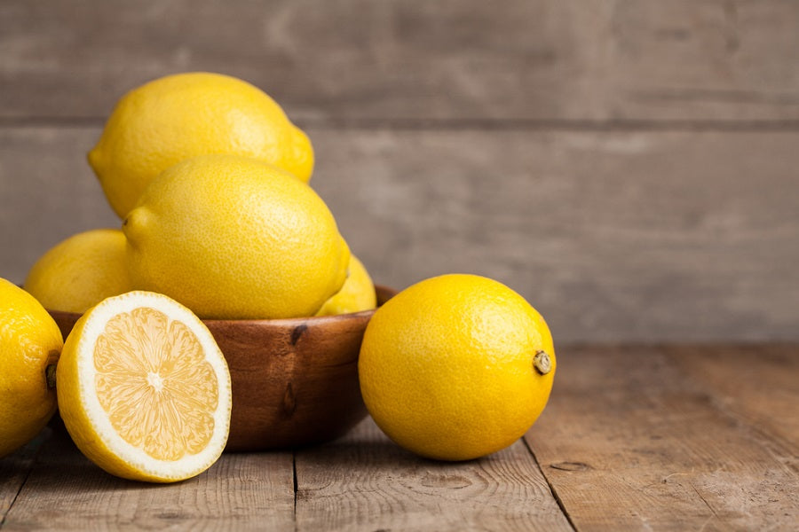 Fresh Lemons on a Table