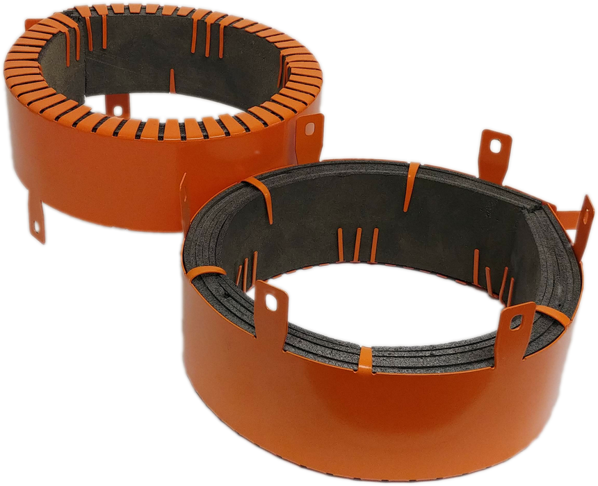 RF80 80mm Fire Collar to close off 80mm PVC pipes, HDPE pipes, Beer Lines, Lagged Air Conditioning Pipes and Cables