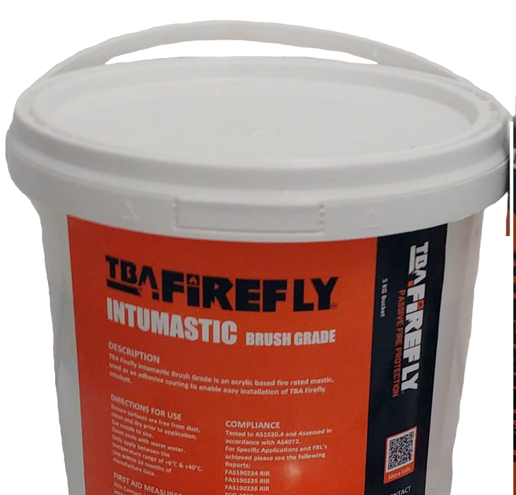 TBA Firefly Intucoat - 5 Litre Pour Grade Intumastic for coating Intubatt edges