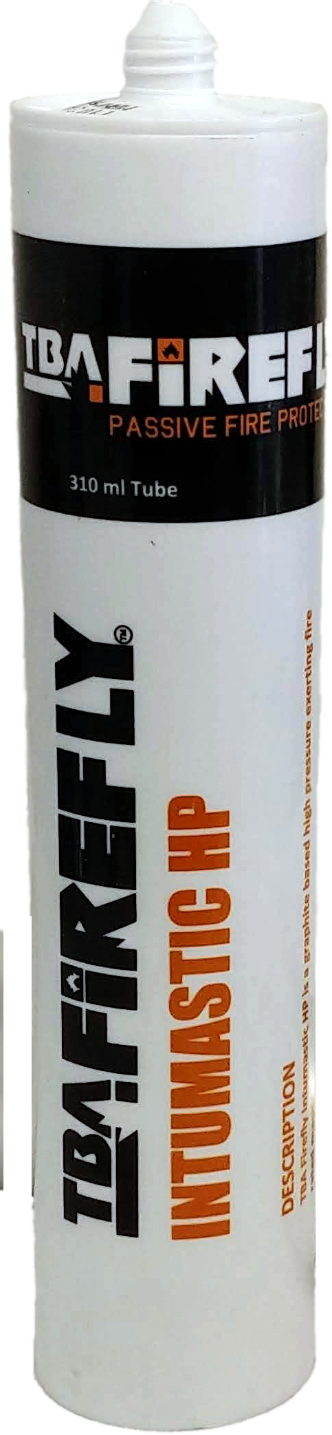 TBA Firefly Intumastic HP - Intumescent Mastic 300ml Cartridge Black - For Fire Sealing around light weight cables, PEX and PEX-AL Pipes etc