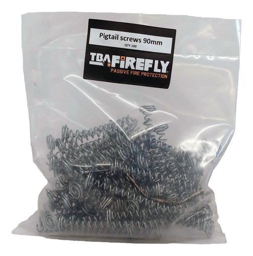 Pigtail Screws 90mm - 90mm Long Wire Screw for joining fire rated batt together
