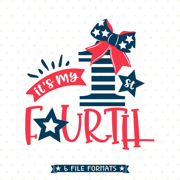 Baby Girl 4th of July Iron on transfer printable design