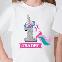1st grade unicorn SVG cut file