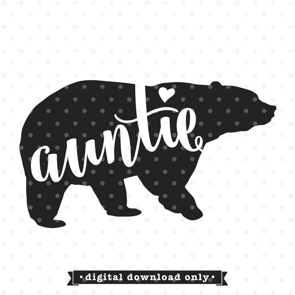 Auntie Bear SVG file | Bear family SVG design