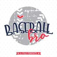 Grunge style Baseball Tee SVG design for brother
