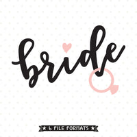 Bride to be SVG