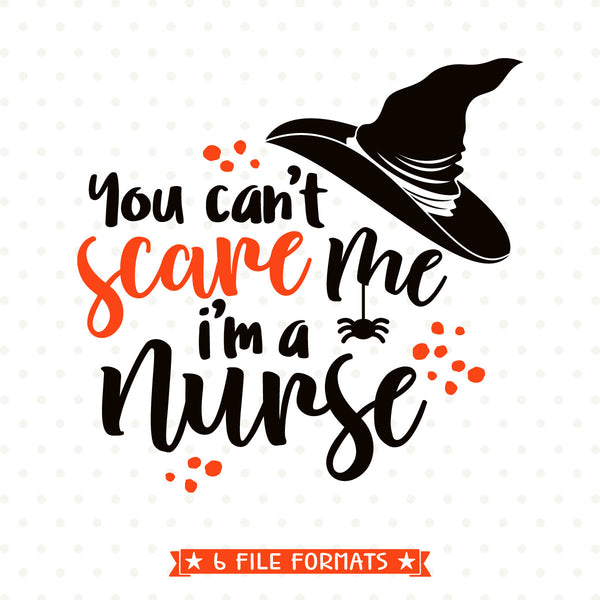 Halloween shirt Iron on transfer printable design for Nurses