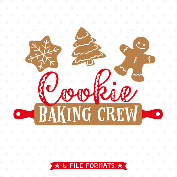 Cookie Baking Crew Svg Christmas Svg Christmas Apron