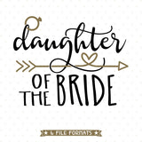 Bridal Party Shirt SVG design for bride's daughter