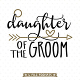 Groom's Daughter SVG design