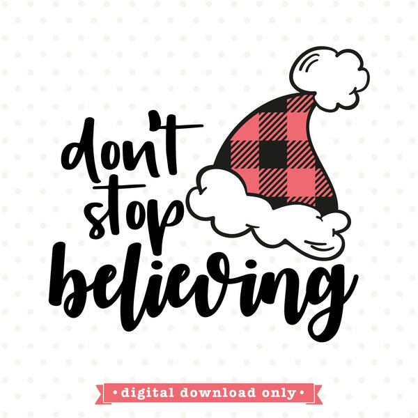 Don't stop believing SVG file