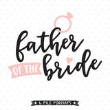 vinyl shirt design for Brides Dad