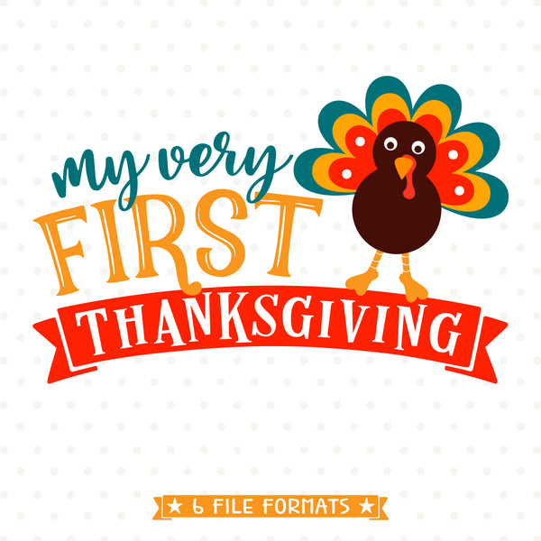 Babys First Thanksgiving vinyl cut file