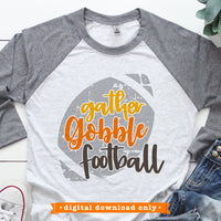 Gather Gobble Football svg file for Cricut