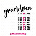Grandmother svg vinyl shirt design