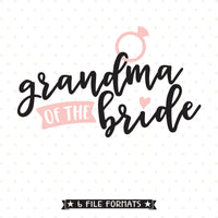 vinyl shirt design for Bride's Grandma