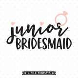 Wedding SVG for Junior Bridesmaid
