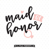 Maid of Honor gift vinyl decal file
