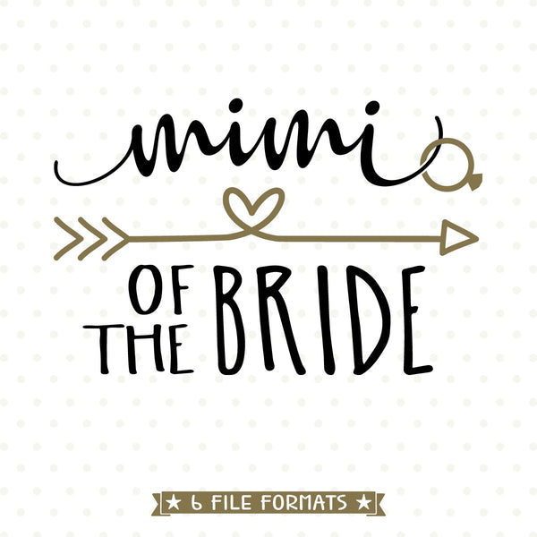 Wedding Party die cut for Mimi of the Bride