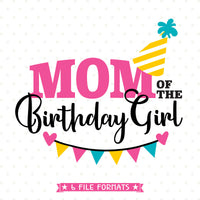 Birthday Girl's Mom Iron on Transfer Shirt design