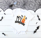 Halloween vinyl shirt design for baby