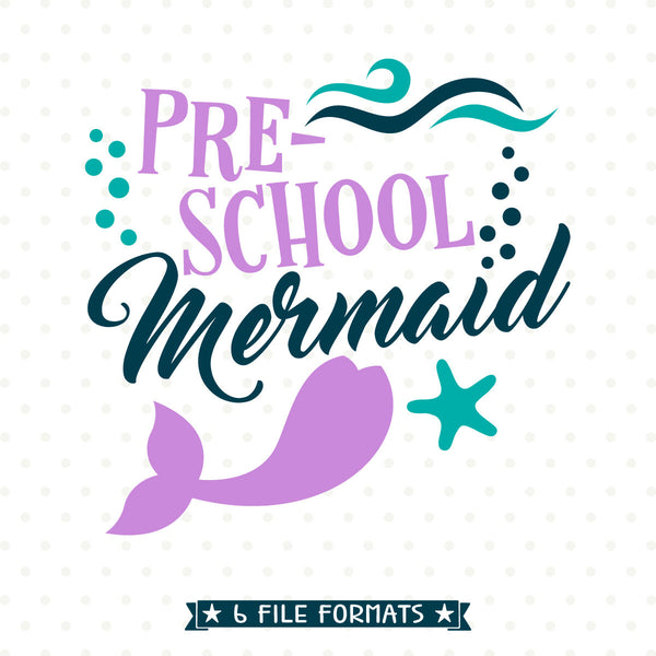 First Day of School Mermaid Iron on file