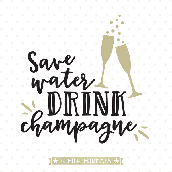 Champagne SVG cut file