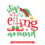 Stop elfing around SVG file