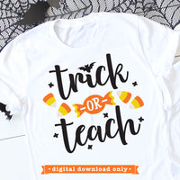 teacher halloween shirt svg for cricut