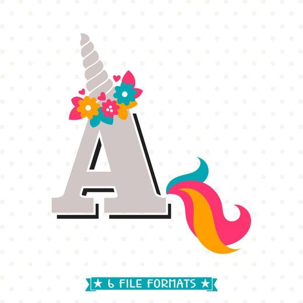 Unicorn Monogram SVG design