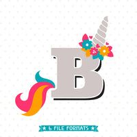 Unicorn Monogram svg design, Vinyl shirt design